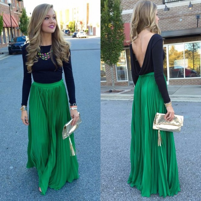 pretty-font-b-green-b-font-font-b-pleated-b-font-font-b-skirt-b-font