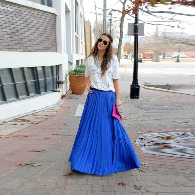 top-fashion-blue-chiffon-font-b-skirts-b-font-a-line-floor-length-font-b-long