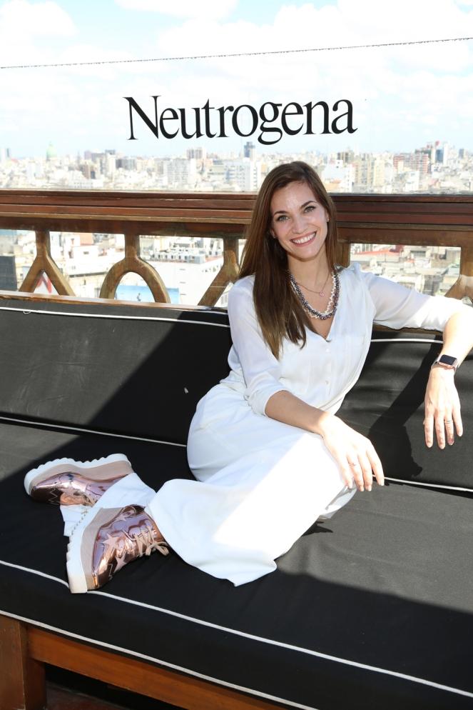 Florencia Fabiano, distendida en la presentación de la nueva línea de Neutrogena