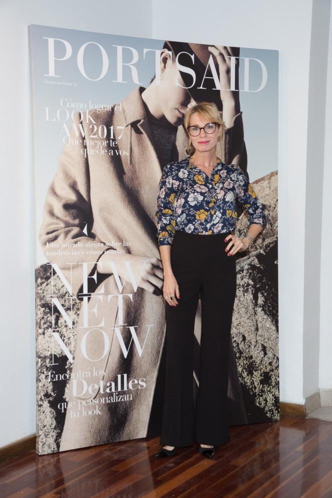 Gloria Carra pasó a conocer la nueva colección de Portsaid