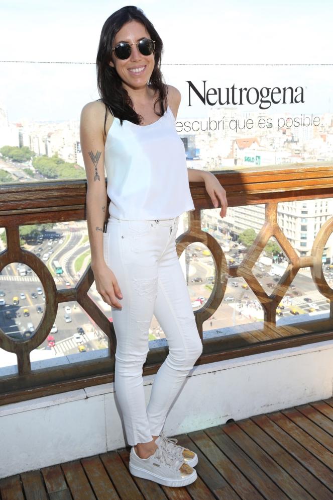 Sofía Sarkany disfrutó de la vista desde el piso 23 del Hotel Panamericano