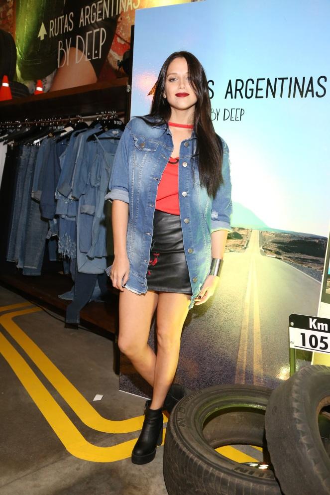 Barbie Velez presente en el lanzamiento de By Deep SS18 Rutas Argentinas