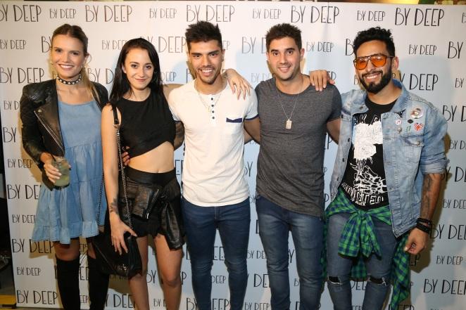 Eva Bargiela, Nai Awada, Tyago Griffo, Dany Martins y Gabo Usandibaras en By Deep