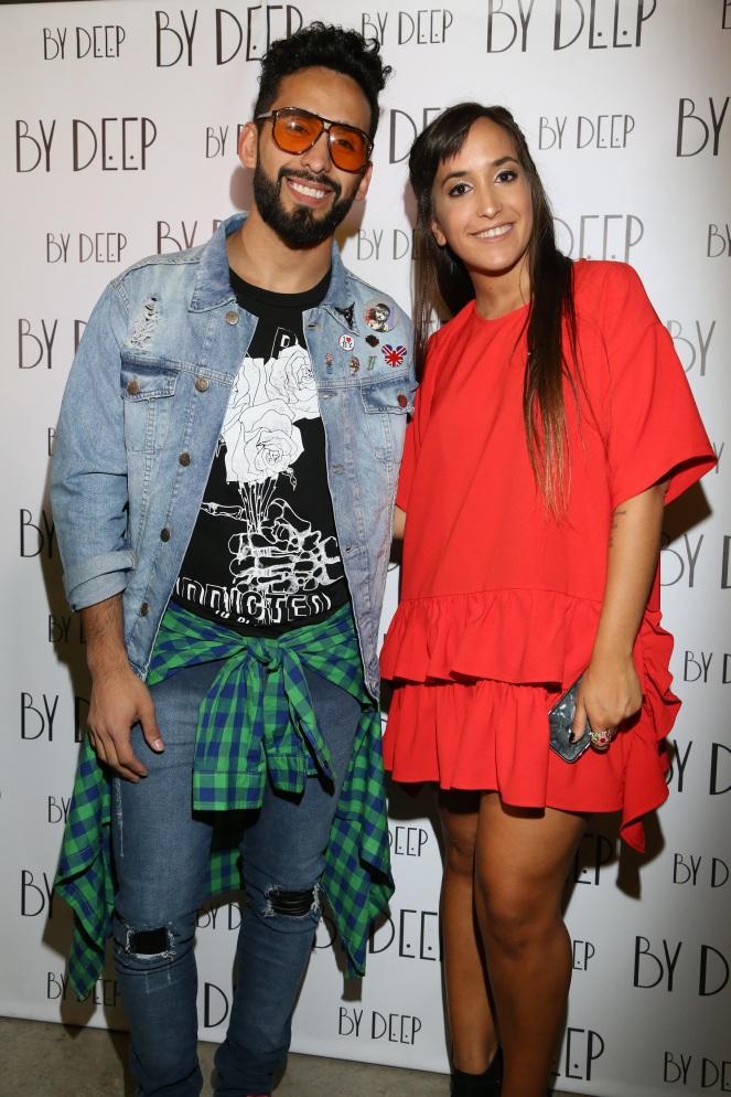 Gabo Usandivaras junto a Stephanie Aloe, dueña de la marca en el lanzamiento de By Deep SS18 Rutas Argentinas