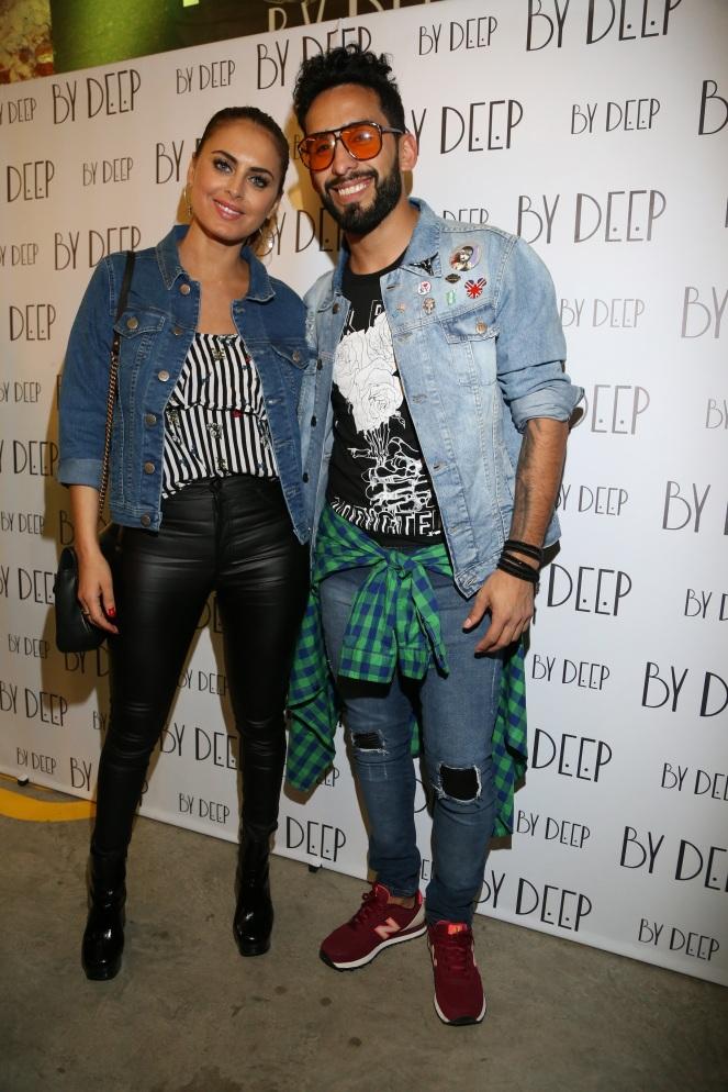 Silvina Luna junto a Gabo Usandivaras en el lanzamiento de By Deep