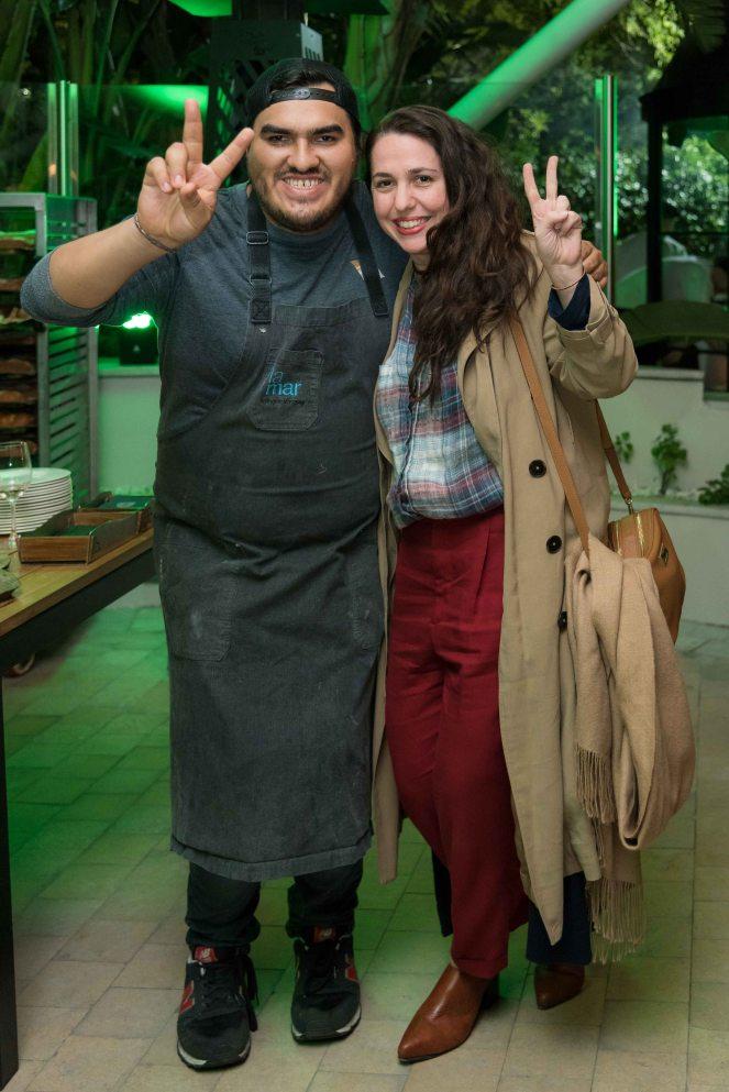 Anthony Vázquez de La Mar y Narda Lepes en el lanzamiento de temporada de Nuestro Secreto
