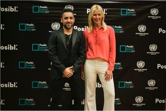 BAJA2_Martin Parlato (CEO & Fundador de Posibl.) y Valeria Mazza (Embajadora de Posibl.)