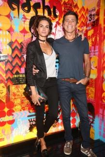 Florencia Raggi y Nicolás Repetto en la apertura de Dashi House